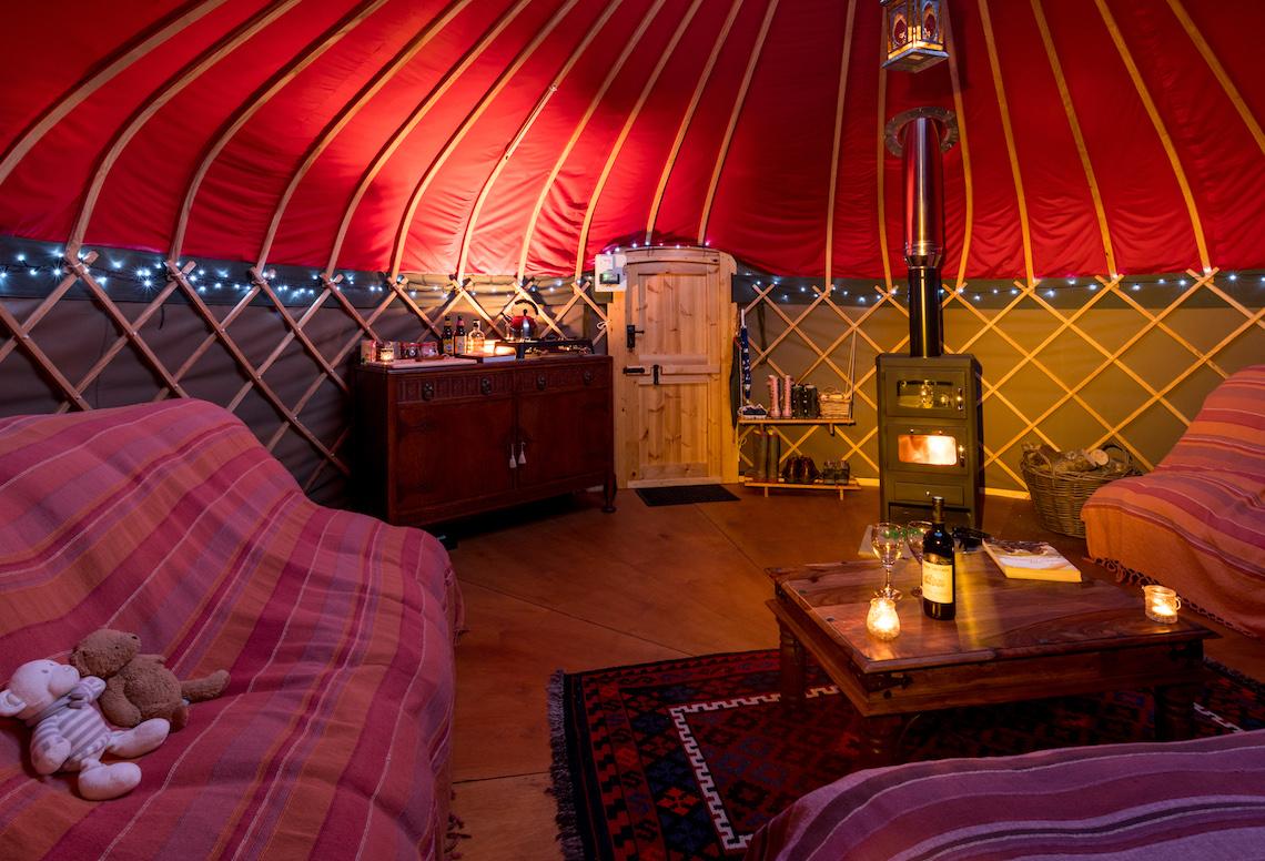 yurt glamping in the peak district