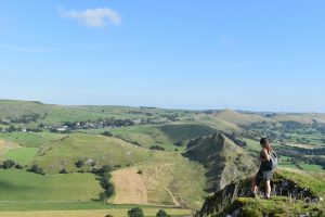scrambling onto the dragon's back in the peak district