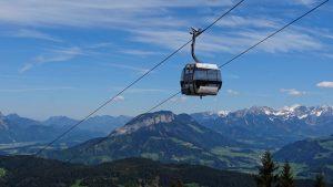 Markbachjoch gondola on the best hikes in Wildschönau
