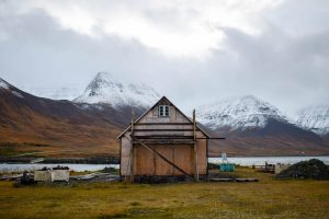Quaint fishing village in the Westfjords