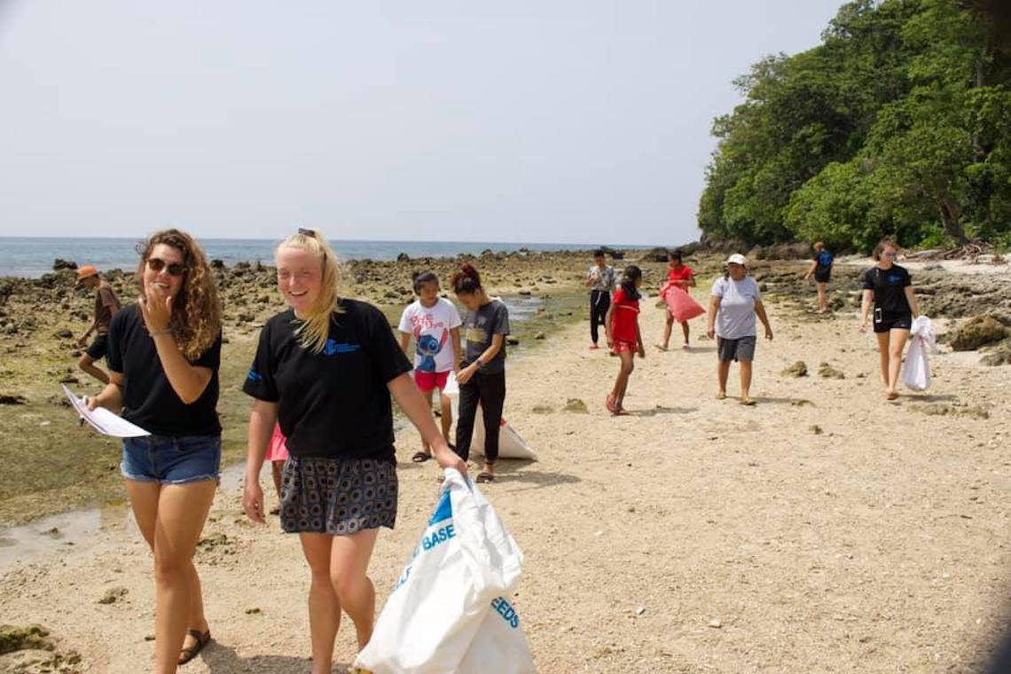 Beach clean up in the Philippines