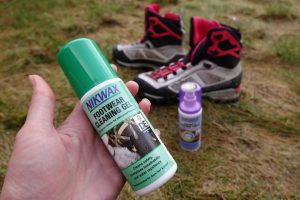 how to clean and re-proof your boots step two