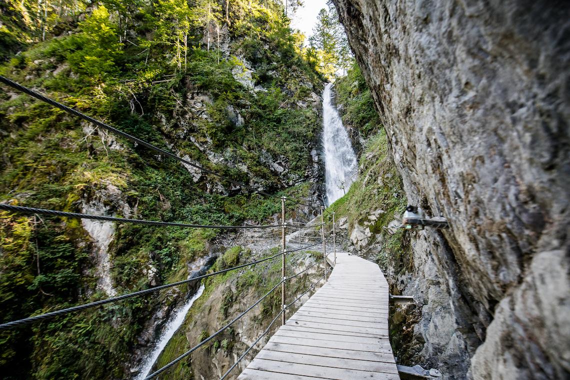Eiferbacher waterfall hike