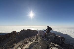 View from summit of mount teide best hikes in tenerife
