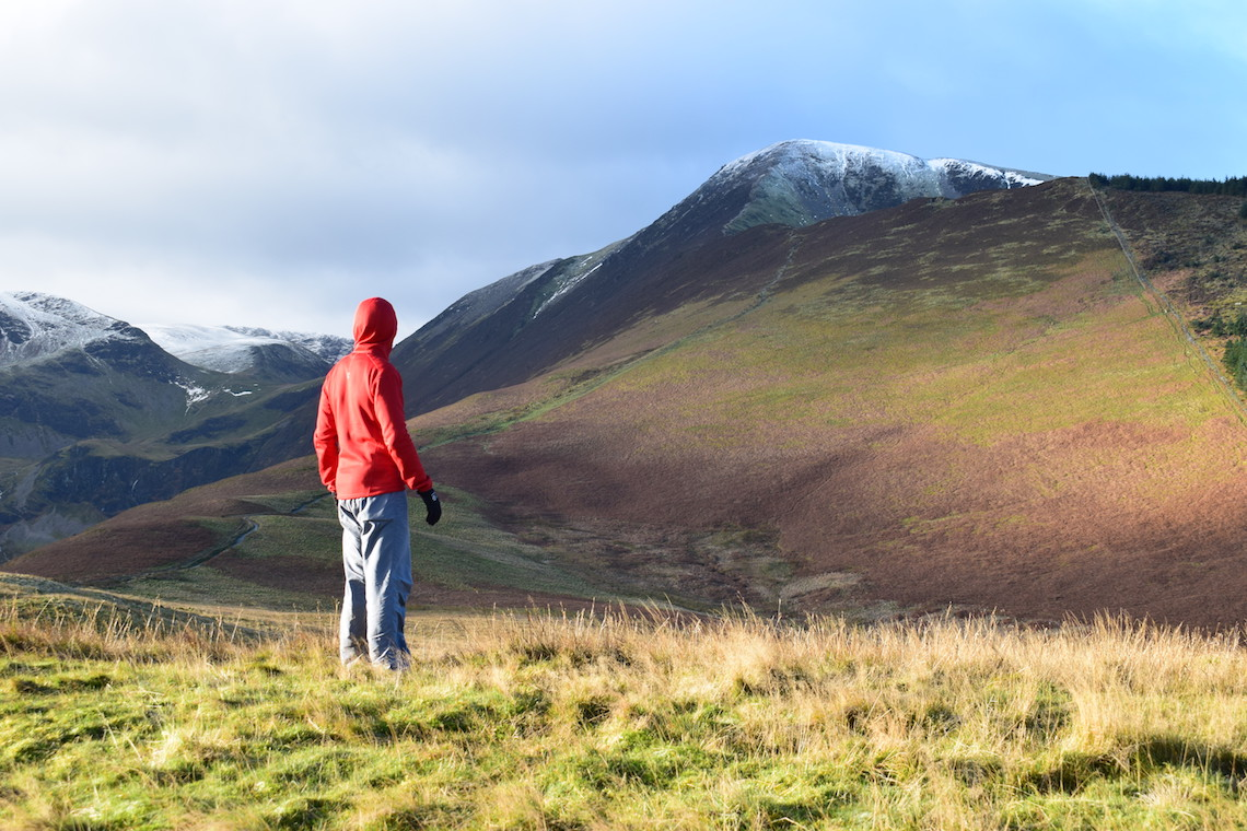 The ascent of Grisedale Pike