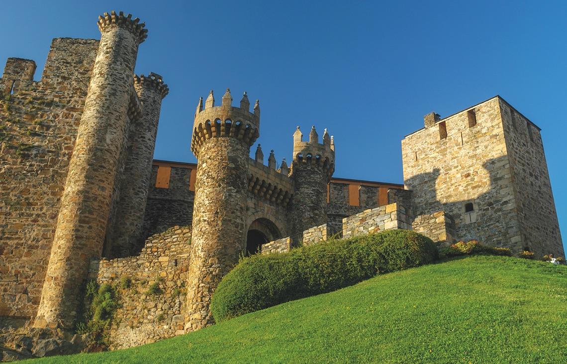Castle on the camino de santiago