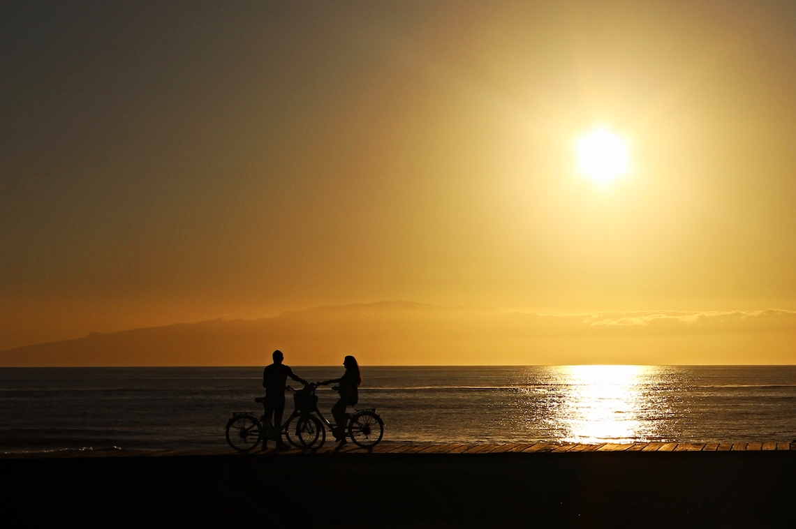Cyclists in Tenerife