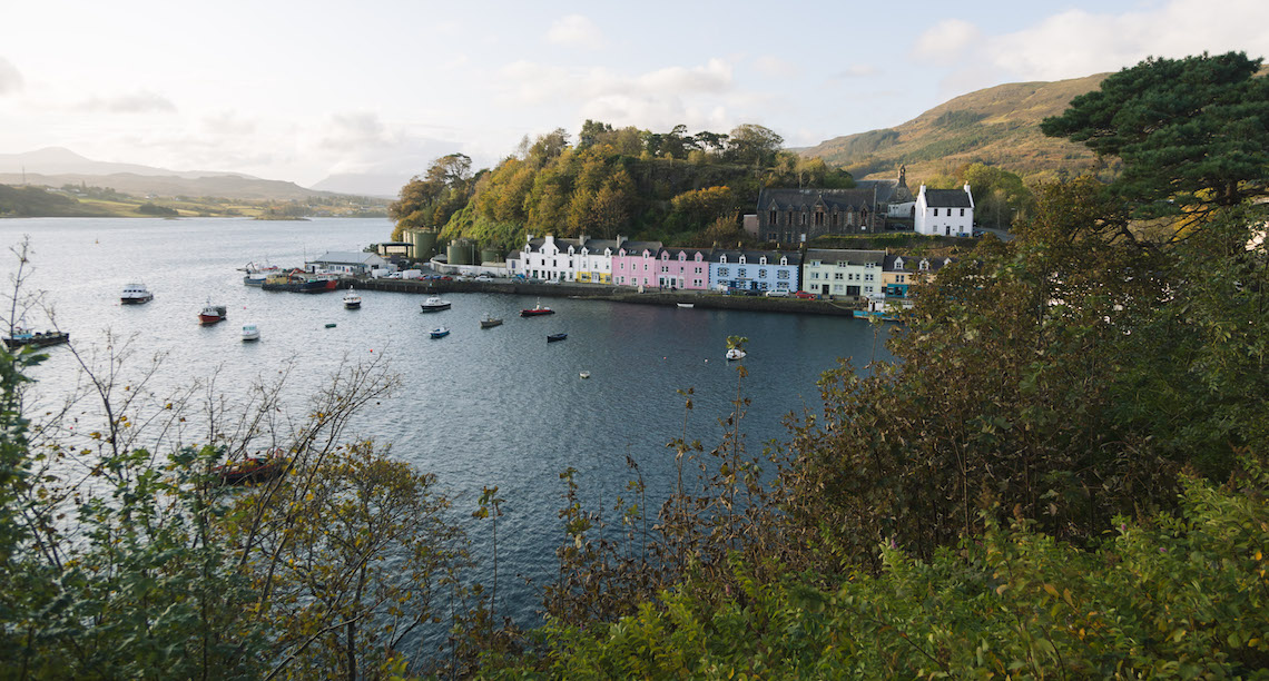 Colourful Houses in portree on the isle of Skye