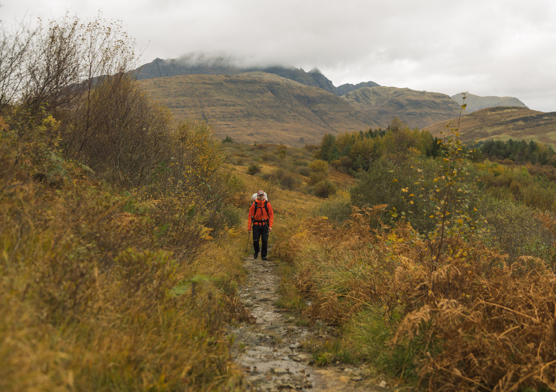 A well marked path on the Skye Trail