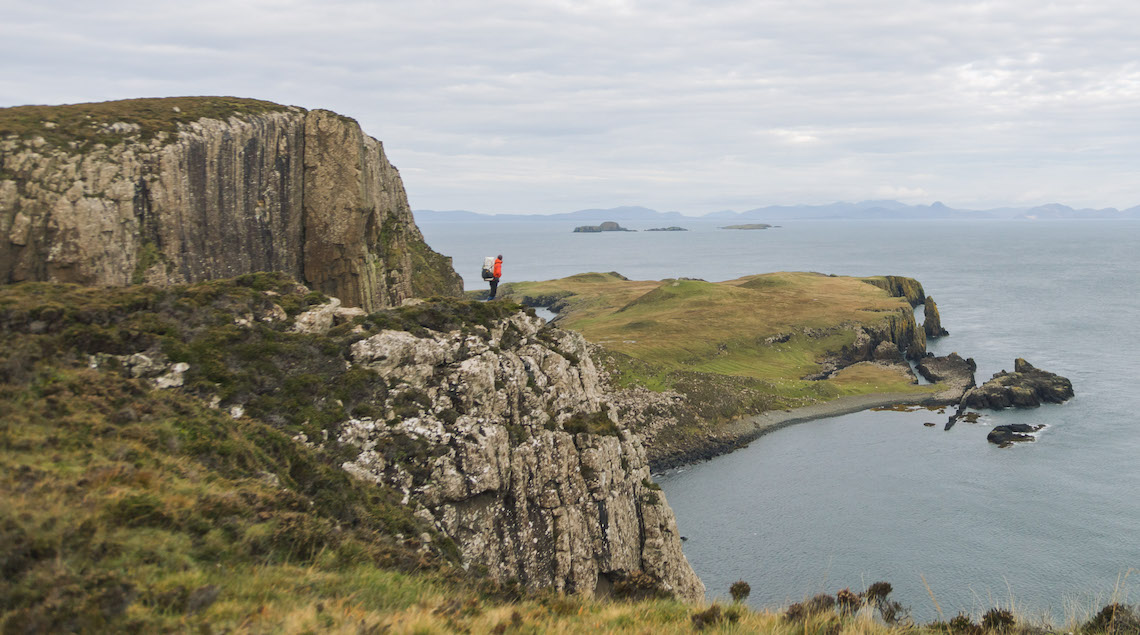 Stopping to admire the view on the Skye Trail