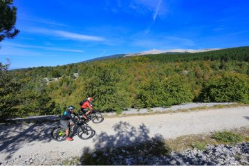 Mountain biking near Mount Ventoux