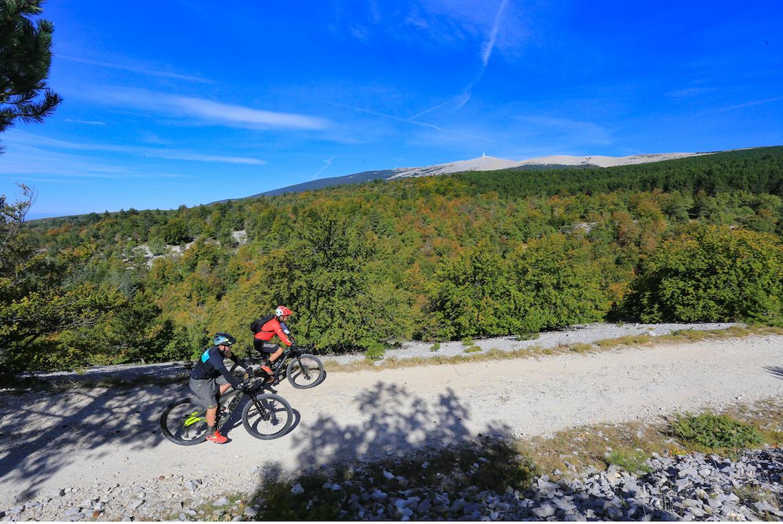 Mountain biking near Mount Ventoux