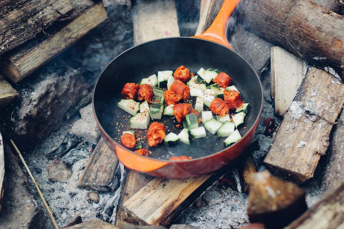 outdoor cooking open fire
