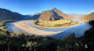 A view of the Yangzte River Ash Dykes