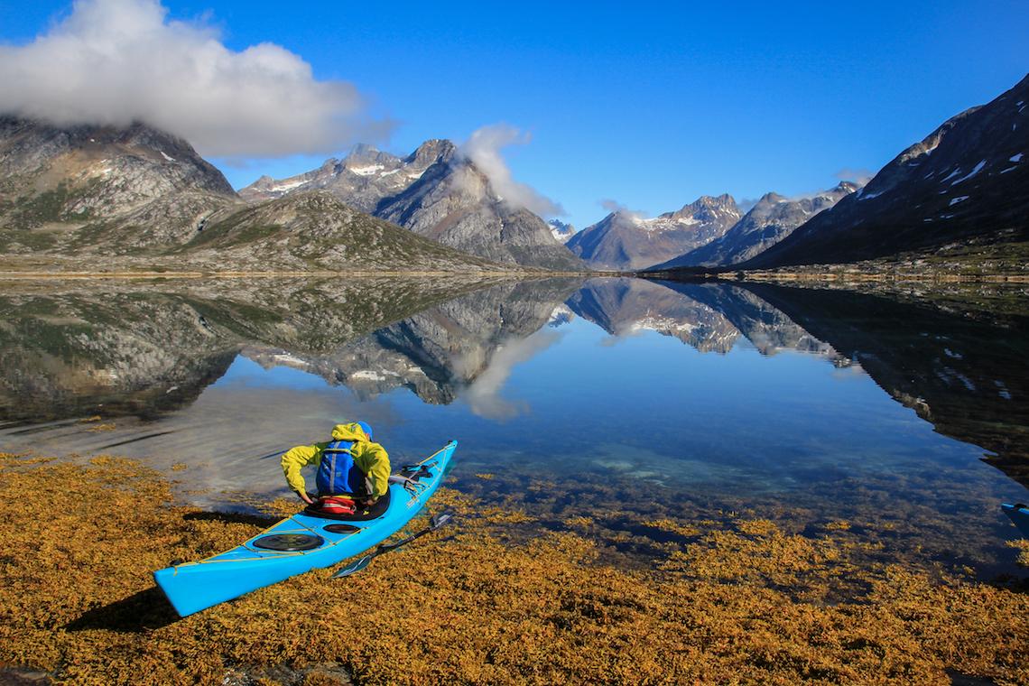 Kayak by a lake