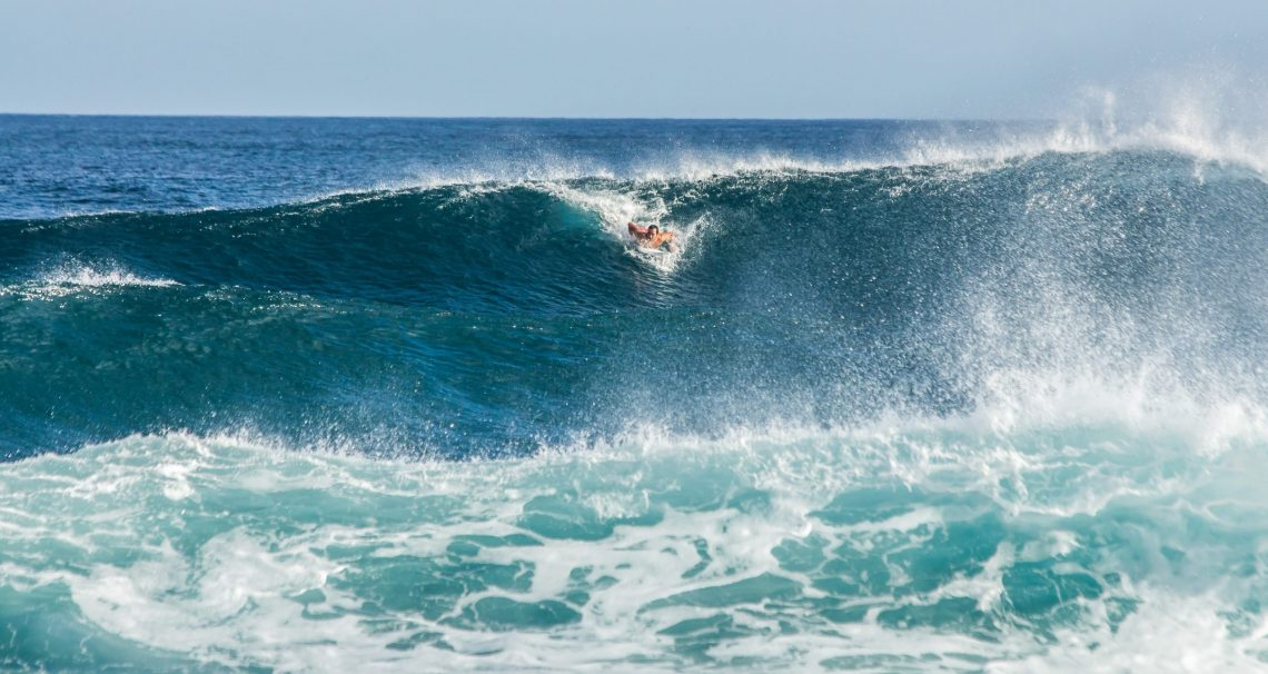 Surfing in the Azores