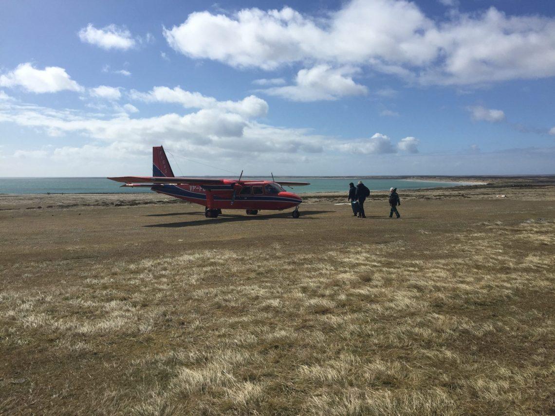 FIGAS plane Falklands