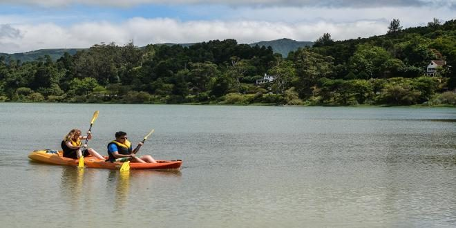 canoeing in the Azores