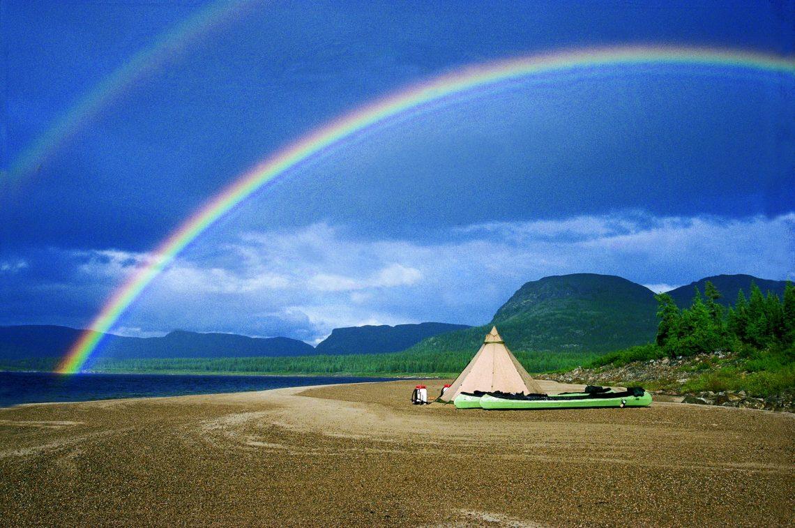 Glamping family tent tipi