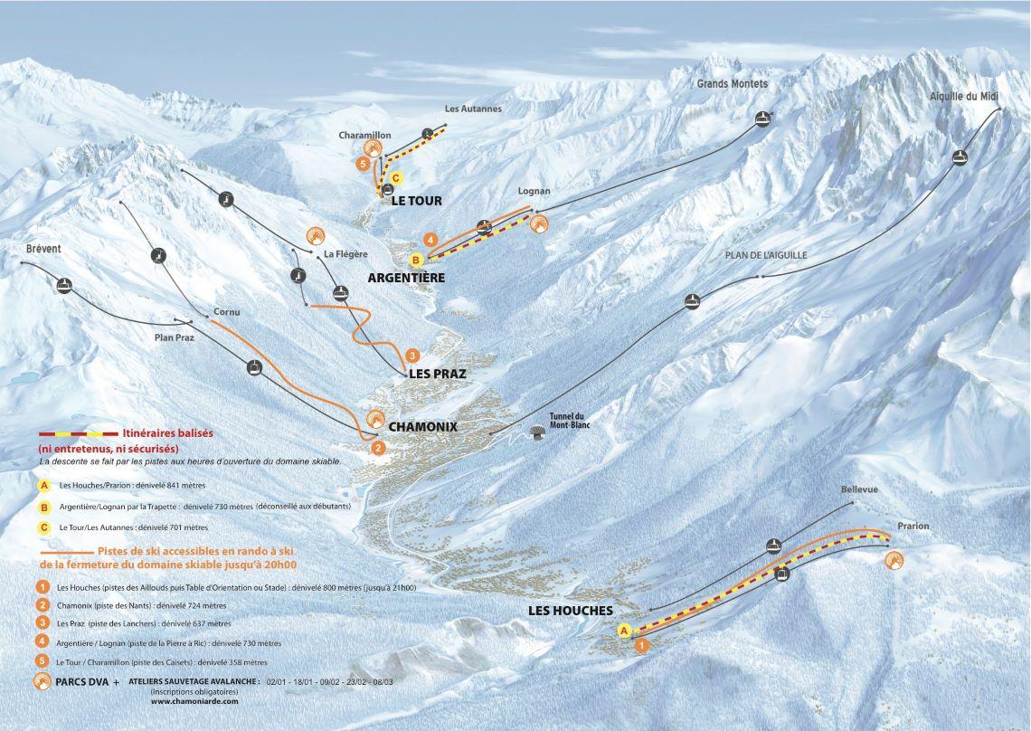 Chamonix-Map-practice-itineraires2020