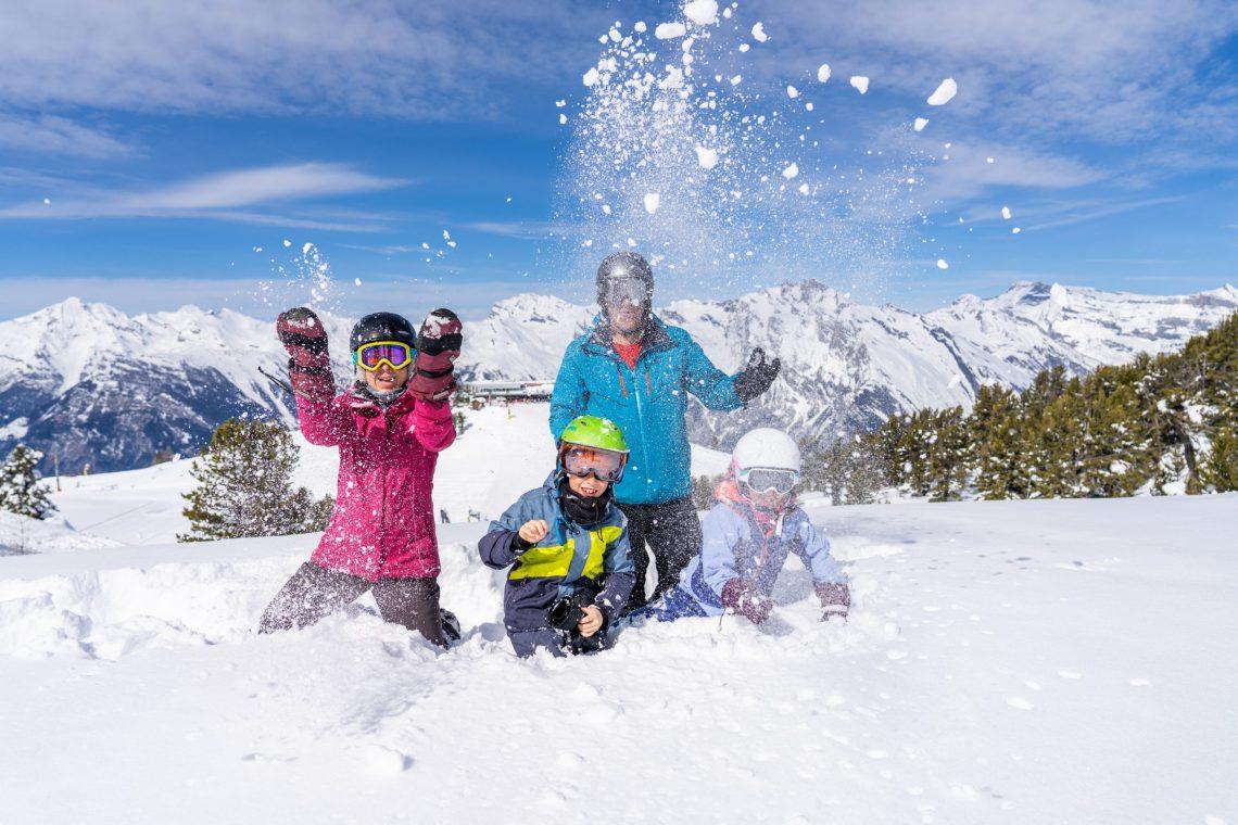 Nendaz family snow