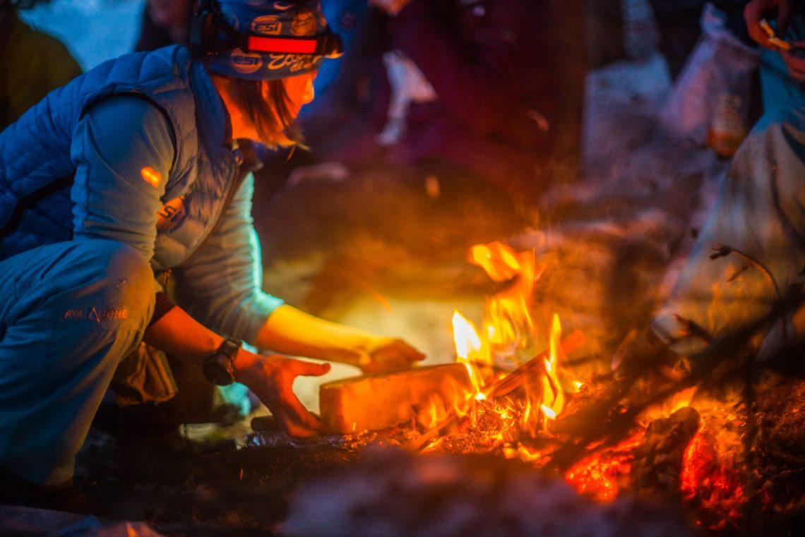 campfire Nendaz Swutzerland